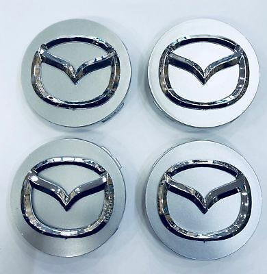 MAZDA 52//55mm Wheel Center Caps Alloy Hubs Covers RX8 6 3 CX 5 3 9 Miata 2 MX SL