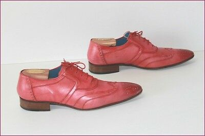 FACTORY Richelieu Derby shoes All Leather Coral Tint Rare T 41.5