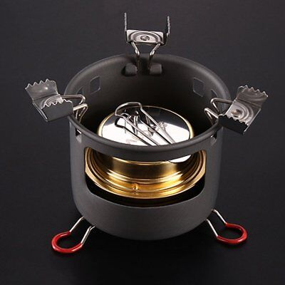 Outdoor Portable Windproof Camping Field Alcohol Stove Furnace Cookware-Z