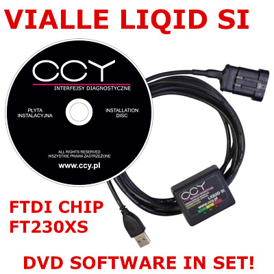 VIALLE Liquid Si LPG GPL Autogas Diagnose Kabel USB INTERFACE ADAPTER + Software