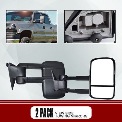 Left+Right For 88-98 Chevy C/K 1500/2500/3500 MANUAL Towing Pair of Mirrors