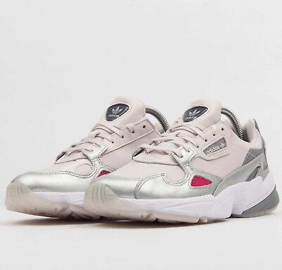 low priced d8062 d8708 Adidas Originals Falcon W D96757 Silver Orchid Tint Womens Running Shoes NIB