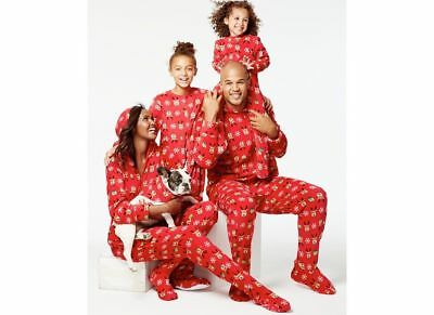 6d481fe3c8 Macys Family Pajamas Red footie Reindeer Pajamas Toddlers Kids Mens Womens