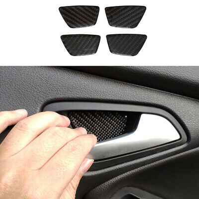 For Ford Focus RS ST 2012-2018 100% Carbon fiber Interior Door Handle Bowl Cover