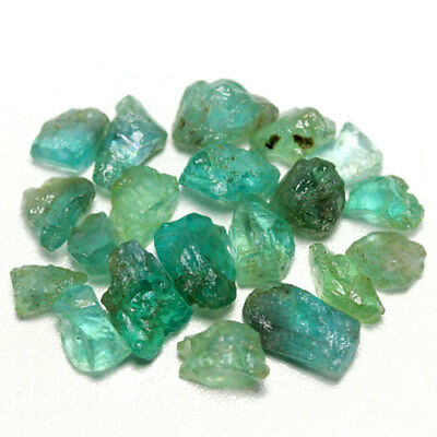 43.53 Ct. Neon Blue Green Apatite Rough Natural Gemstone Unheated Free Ship!!