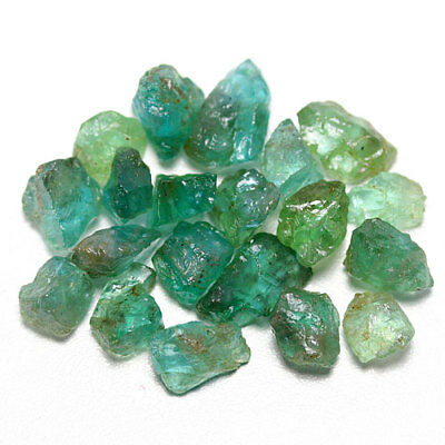 50.17 Ct. Neon Blue Green Apatite Rough Natural Gemstone Unheated Free Ship!!