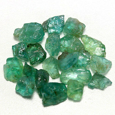 41.75 Ct. Neon Blue Green Apatite Rough Natural Gemstone Unheated Free Ship!!