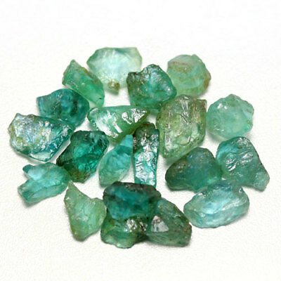38.29 Ct. Neon Blue Green Apatite Rough Natural Gemstone Unheated Free Ship!!