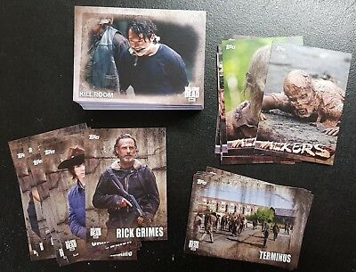 The Walking Dead Season 5 complete set including chase, auto and costume cards