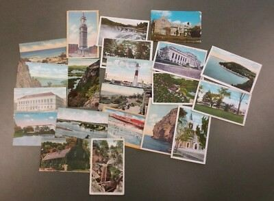 Lot of 21 Postcards New England Connecticut Vermont Curt Teich 40s-60s