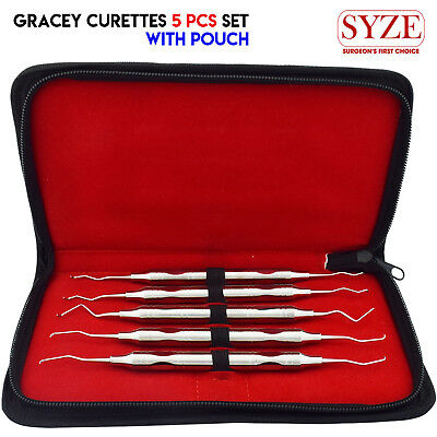 Periodontal Instruments Gracey Curette Universal Set Of 5 Root Canal Scalers CE