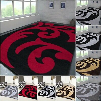 Rugs 160 x 230 Large Hand Carved Non Slip Washable Carpet Mat Living Area Rug