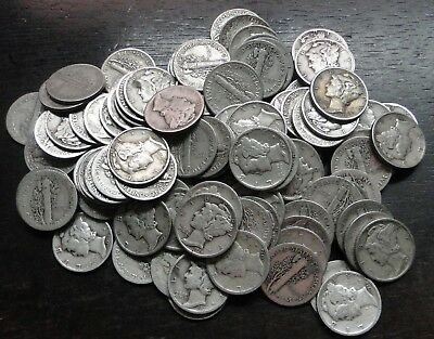 MERCURY DIMES   1916-1945 (MOSTLY 10s & 20S)  -   LOT OF 5  - CHOOSE HOW MANY!