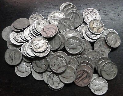 Mercury Dimes   1916 - 1945   Lots Of 5 Coins  -  Choose How Many!