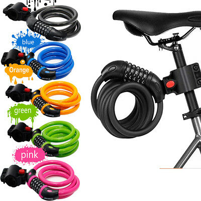 New Combination Bike Lock Strong Heavy Duty Cycle Security Bicycle Locks 1.2M