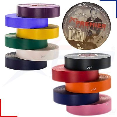 33m Roll Premier Sock Tape Football Hockey Rugby Shin Pad Sock Tape 19mm