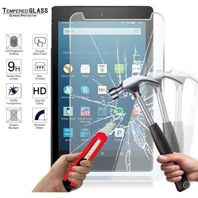 """For Amazon Fire HD 8"""" 7th Gen 2017 alexa Tablet Tempered Glass Screen Protector"""