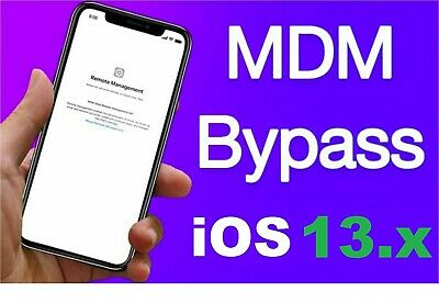 Apple MDM BYPASS iPhone iPad iPod ANY iOS ver ANY IMEI Fast Service