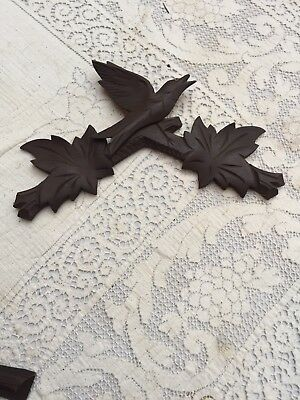 "Black Forest Cuckoo Clock Crown 6.5"" By 11."" Very Good"