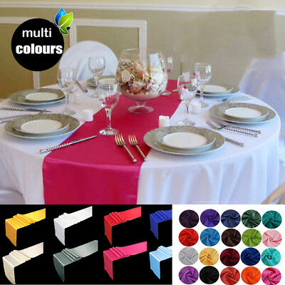 """20PCS Colors 12x108"""" Satin Table Runner for Wedding Banquet Decoration Xmas"""