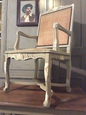 Pair Of Antique French Rustic Armchairs Circa 1920