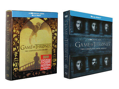Game of Thrones The Complete Series/Season 5 6 (Blu-Ray) Box Set New Sealed 56