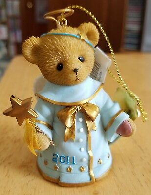 NEW Cherished Teddies - Rubi - 2011 Angel Bell Dated Hanging Ornament - 4023735