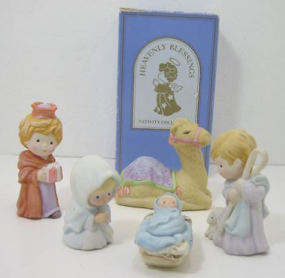 """Lot/5  Pieces Avon """"Heavenly Blessings"""" Nativity Collection"""