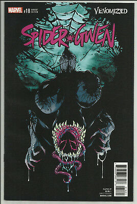 Spider-Gwen #18 Venomized Variant Cover Campbell  Nrmt 1St Printing Marvel 2017