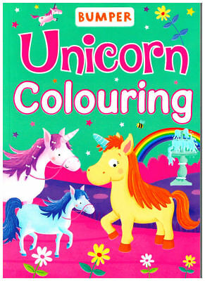 UNICORN Mega Colouring Book 92 PAGES to colour in Horses Bumper Creative Girls