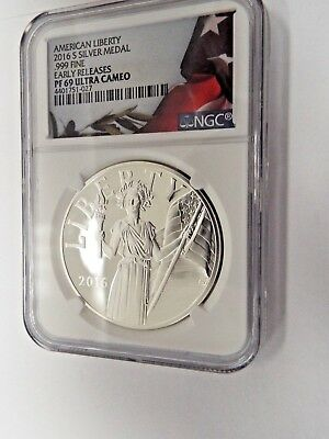 2016-S Proof American Liberty Silver Medal 1 oz NGC PF 69  Early Release