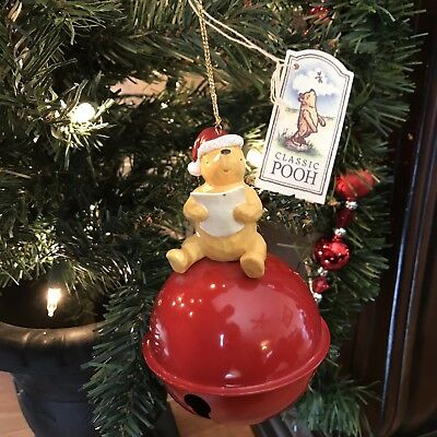 """Winnie the Pooh """" Sounds of the Season Jingle Bell  """" Classic Ornament ~ NWT"""