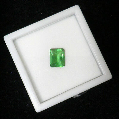 Green Obsidian Emerald-cut 9x7mm 2.10 ct faceted Loose Tsavorite-colored  G8506e