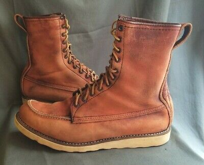 3a85ff5ee7b VINTAGE MEN'S BROWN Leather RED WING IRISH SETTER 877 Sport Work Boots  Sz-13 C