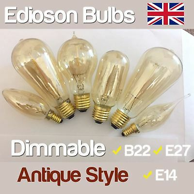 SES BC ES Antique Style Edison Vintage Filament Light Bulb Industrial Retro Lamp