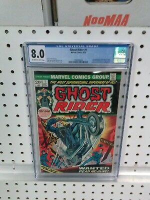 MARVEL COMICS ~ GHOST RIDER #1 CGC 8.0 OW/W Pages ~ 1st App. SON OF SATAN