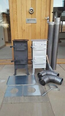 Wood Burning Stove Log Burner Greenhouse Workshop Patio Tent Garage Barn Pellet