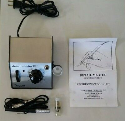 Detail Master III Dagger Electronic Wood Burning System Model 8421 with Pen
