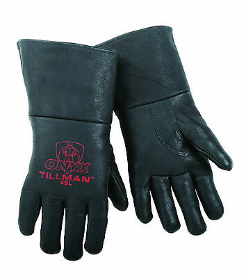 Tillman 45 LARGE MIG Welding Gloves Black ONYX Top Grain Pigskin Leather 1 Pair