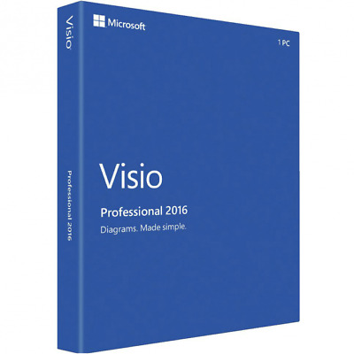 Microsoft Visio 2016 Professional - FULLY WORKING KEY -  5 PCS!!!