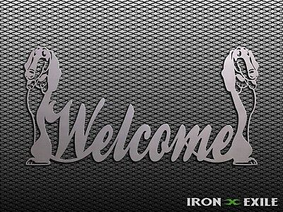 WELCOME PUPPY -- Sign Metal Home Dog Pet Sign Wall Art Plasma Cut Out Farm Barn