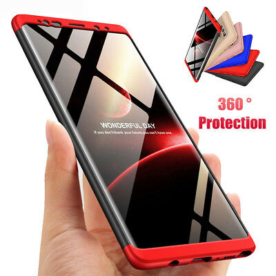 For Samsung Galaxy Note 9 S8+ 360° Full Body Hybrid Case Shockproof Slim Cover