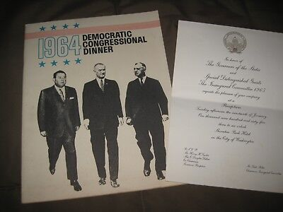 Original 1964-65  President Lyndon Baines Johnson Inauguration & convention Lot