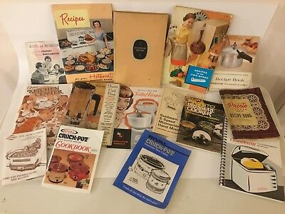 LOT Various VINTAGE Instructions MANUALS Recipes COOKBOOKS Oster HOTPOINT Waring
