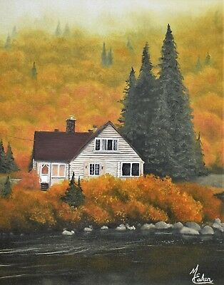 "Original oil painting ""The Inspiration Of Autumn"" 16""x 20"" - Framed"