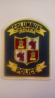 Columbus Police Patch Indiana (IN)
