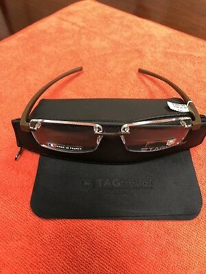 TAG HEUER TH 3943 009 Rubber Brown 56mm Eyeglasses