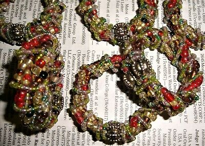 Victorian beaded wreath ring ornaments napkin rings candle decorations Christmas