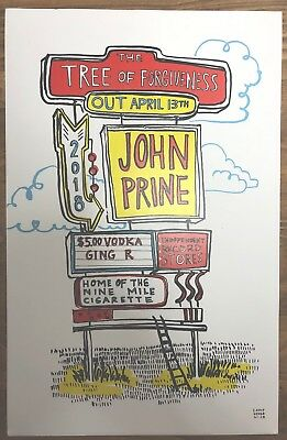 "JOHN PRINE *RARE* 11"" x 17"" Promotional Poster for Tree Of Forgiveness LP"