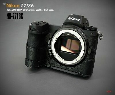 LIM'S Genuine Leather Half Case Dovetail Plate for Nikon Z7 Z6 Black